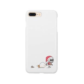 クリスマスのホネホネくん Smartphone cases
