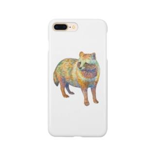 水彩タヌキ Smartphone cases