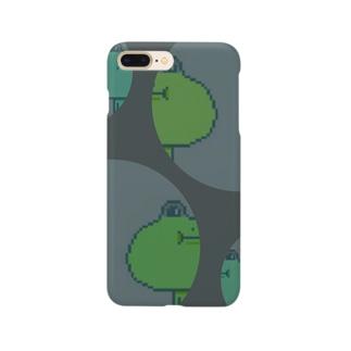 蛙のもちもち(ドット柄バージョン) Smartphone cases