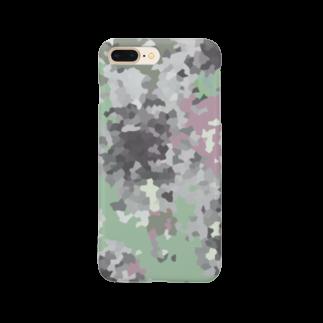イラストレーター yasijunのモスいろカモフラ Smartphone cases