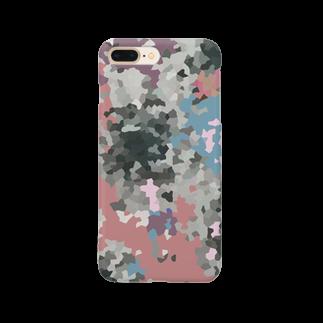 イラストレーター yasijunのムラサキのカモフラ Smartphone cases