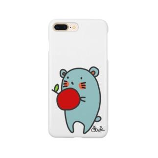 りんごを食べるねずねず Smartphone cases