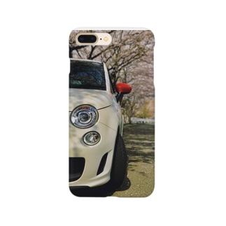 ABARTH500 白-赤ミラー Smartphone cases