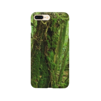 屋久島の苔むす世界 Smartphone cases