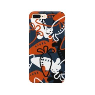 Vegetable01(Navy) Smartphone cases