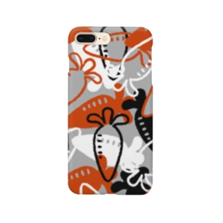 Vegetable01(Gray) Smartphone cases