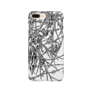 Circle-earthborn. White Smartphone cases