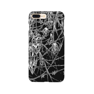 Circle-earthborn. Black Smartphone cases