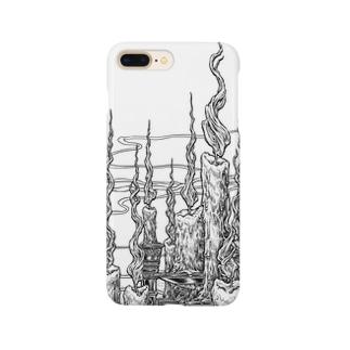 Circle-fireborn. White Smartphone cases