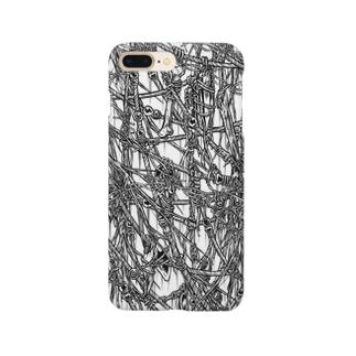 Circle-00. White Smartphone cases