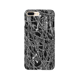 Circle-00. Black Smartphone cases