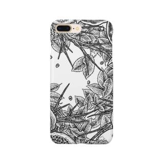 Circle-02. White Smartphone cases