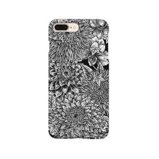 Circle-01. Black Smartphone cases