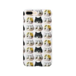 「羊毛フェルトな猫」 総柄 Smartphone cases