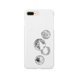 雪輪:異国にて Smartphone cases