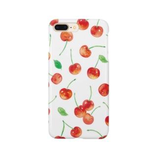 さくらんぼiPhoneケース Smartphone cases