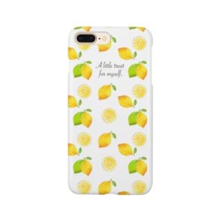 レモン in white スマートフォンケース
