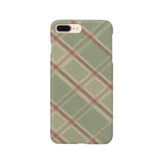 チェック柄 Smartphone cases