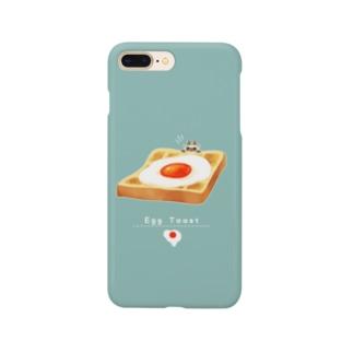 エッグなトースト猫 Smartphone cases
