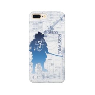 INGRESS RESISTANCE Samurai Blue スマートフォンケース