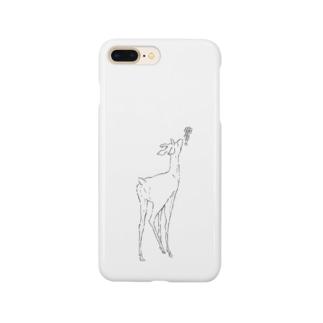 hicono webstoreの鹿とぶどう Smartphone cases