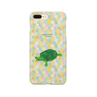 Love Turtle Type A カラフル Smartphone cases
