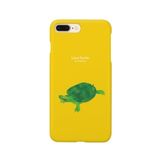 Love Turtle Type A イエロー Smartphone cases