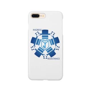 INGRESS RESISTANCE BlueCircle Smartphone cases