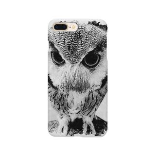 フクロウ Smartphone cases