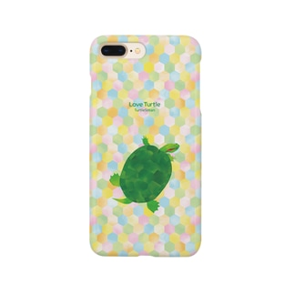 Love Turtle Type B カラフル Smartphone cases