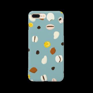 きなこ牛乳の穀物[ブルー] Smartphone cases