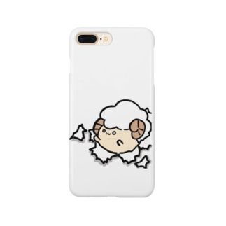 突き破るひつじさん(・ェ・@ Smartphone cases