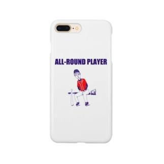野球デザイン「オールラウンドプレイヤー」 Smartphone cases