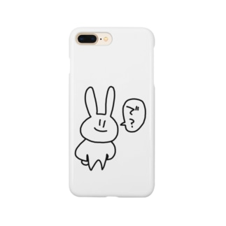 ゆるうさぎ「で?」 Smartphone cases