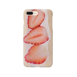 いちごたっぷりのフルーツサンド Smartphone cases
