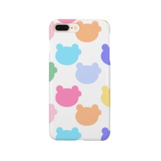 シルエットのかえるさん(パステルカラー) Smartphone cases