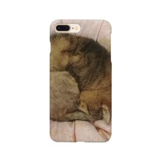 家の猫アンモナイト型 Smartphone cases