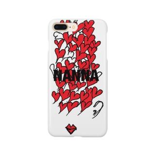 レッドハートガール Smartphone cases