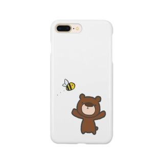 ハチを見つけたくまのすけ Smartphone cases