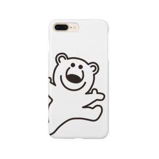 むじゃきのシロクマ Smartphone cases
