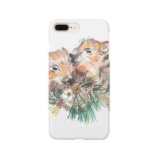 新春 イノシシ Smartphone cases