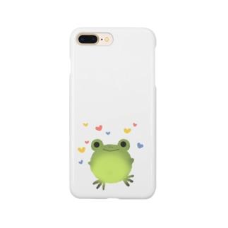 うきうきカエルさん Smartphone cases