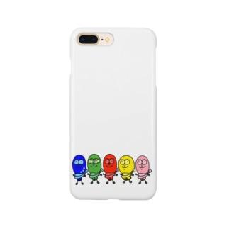 egg Mのたまごレンジャーズ。字なしVer. Smartphone cases