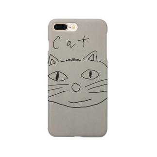 猫、手書きイラスト、グッズ Smartphone cases