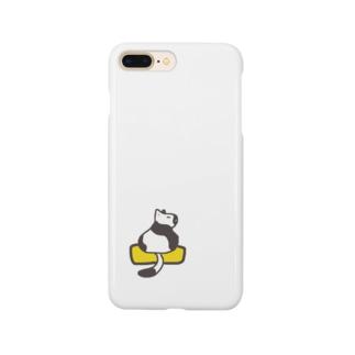玉子焼きに乗ったネコ Smartphone cases