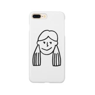 ふたつ結びの女の子 Smartphone cases