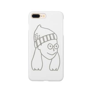 ニット帽の女の子 Smartphone cases