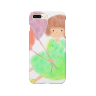 ふうせん少女 Smartphone cases