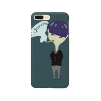 メンソールくん(緑) Smartphone cases