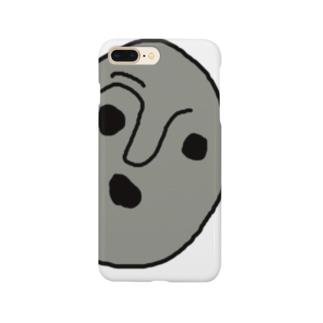 人面石くん Smartphone cases